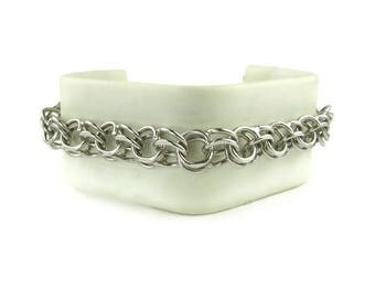 Vintage Krementz Parallel Link Chain Bracelet