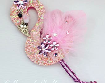 Lolli and Shell Flamingo Hair clip