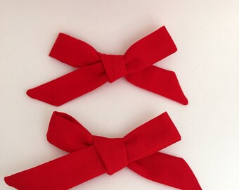 Red Delicious school girl bow
