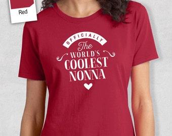 Cool Nonna, Nonna Gift, Nonna T-shirt, World's Coolest Nonna Shirt, Birthday Gift For Nonna, Nonna T-Shirt For An Awesome Nonna!