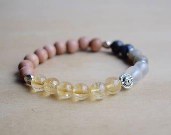 Moon Phase Bracelet / Astrology Bracelet / Moon Witch / Genuine Gemstone Bracelet / Meditation Bracelet / Sun Bracelet / Gift Idea