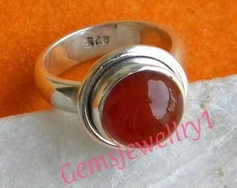 Carnelian Ring, Carnelian Stone, 925 sterling silver,Carnelian Stone Ring, Silver Ring,,Carnelian, Size 5 6 7 8 9 10 11 12 13 14 -0115100240