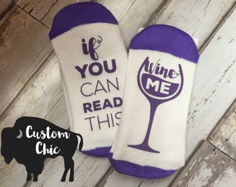 WINE ME socks! Bring me Wine Socks, Perfect gift for the one you love or yourself!