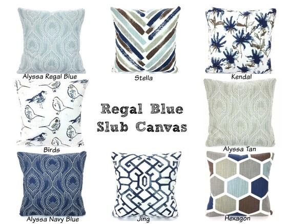 Pillows Navy Blue Brown Tan White Decorative Throw Pillow