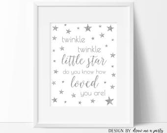 Twinkle Twinkle Little Star Do You Know How Loved You Are , Twinkle Twinkle Little Star Decorations , Nursery Sign , Baby Room Decor , DIY