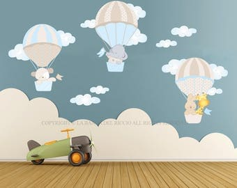 Wall decals kids Wall stickers Baby Nursery Room Decor Air Balloons