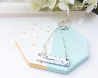 Personalized bar necklace, Name jewellery, personalized jewelry, gift for bridesmaid, Mother's day, gift for best friend, gift under 15