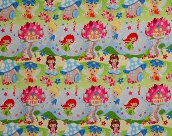 Spring Princess Fairies Euro Oeko-Tex Knit Fabric 1/2 yard