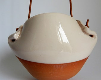 Pup pot - terracotta hanging pot/planter/vase