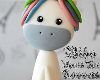 Edible 3D Unicorn Cakes Decoration Fondant Topper , Birthday Cake Topper