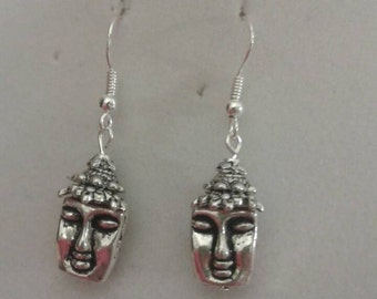Beaded Buddah earrings with sterling silver ear wires