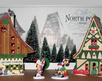 Department 56 North Pole START A TRADITION Set of 12, 56390, 1996 limited edition,New Never Displayed