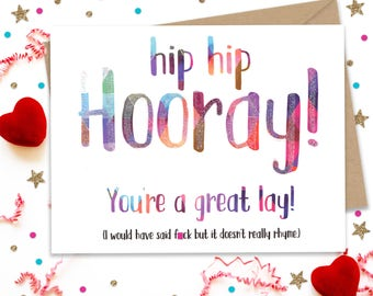 Mature Card, Funny Card for Her, Card for Him, Anniversary Gift, Naughty Card, Gay Greeting Card, Handmade Card, Funny Birthday Card,