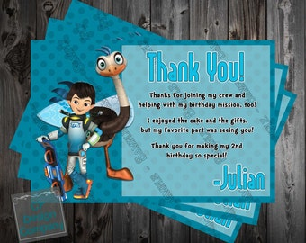 Miles from Tomorrowland - Birthday Party - Thank You Card - Printable