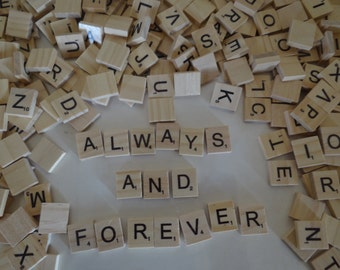 Scrabble Letter Tiles - Individual letters .55 cents each
