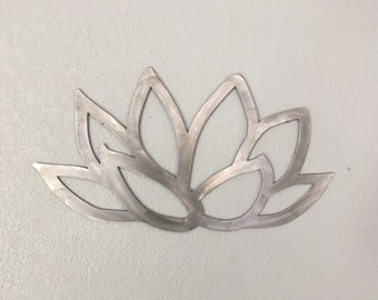 Beautiful Lotus Flower - Metal Flower - Wall Art - Metal Wall Art