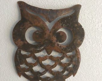 Wise Ol Owl  - Owl -  Wall Decor  -  Metal Art - Wall Hanging