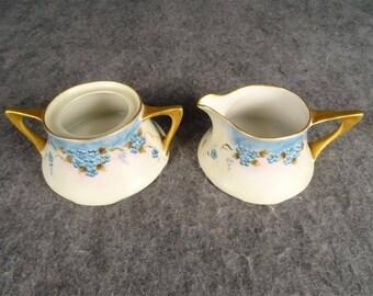 Porzellanfabrik Zeh, Scherzer, Z.S.& Co. Bavaria Ceramic Creamer/Sugar Bowls