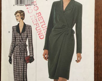 Vogue Sewing Pattern 7476 Size 20, 22, 24 Misses Career Dress 2001 Out of Print Plus Size