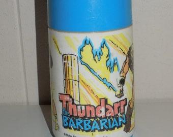 Vintage Thundarr The Barbarian Aladdin Thermos Spouted Cap