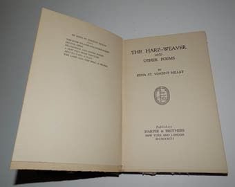 Vintage 1923 The Harp Weaver And Other Poems Edna St. Vincent Millay