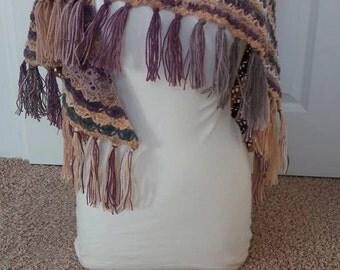 Warm crochet wrap.