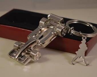 Vintage metal formula, car,key ring,keychain,johnnie walker