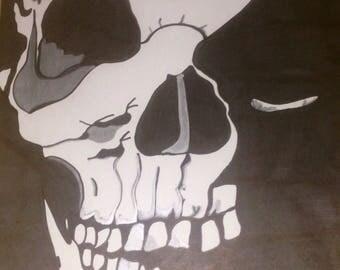 Skull sharpie drawing