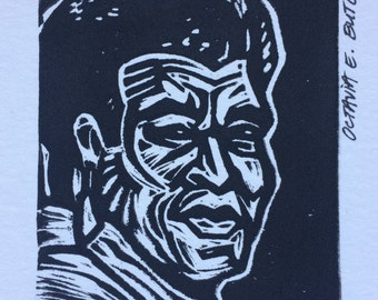 Kindred Spirit (Octavia E. Butler) Linocut Print