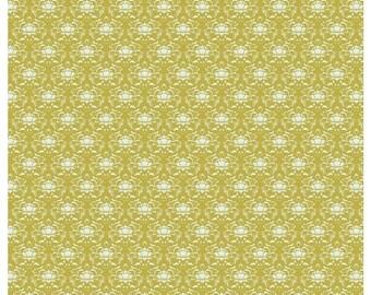 Half Metre - Tilda GREEN Ornament quilting cotton fabric