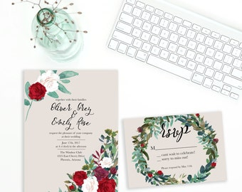Oliver & Emily - Whimsical and Romantic Printable Wedding Invitation