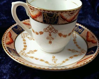 Gorgeous Colclough Cup and Saucer, Vintage, Bold Look, Classic Style, Demitasse