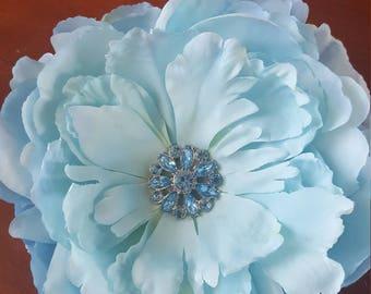 Light Blue Floral Hair Clip