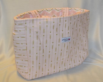 Arrow Bag ( pink and gold)