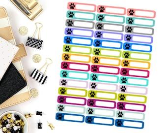 Paw/Animal Mini Label Stickers! Perfect for your Erin Condren Life Planner, calendar, Paper Plum, Filofax!