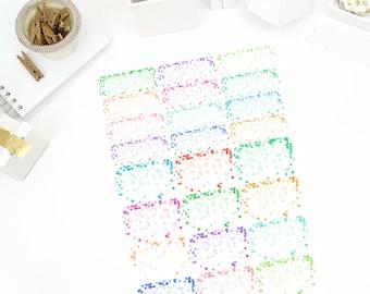 Confetti Half/Quarter Stickers! Perfect for your Erin Condren Life Planner, calendar, Paper Plum, Filofax!