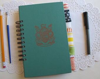 altered book junk journal, spiral bound art journal, mixed paper journal