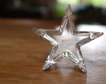 Dansk Glass Crystal Star Paperweight Desk Ornament Home Decor Poland