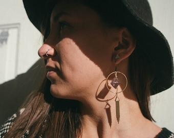 Purple Fluorite South Western Earrings