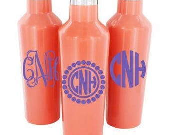 Corkcicle canteens. 25 oz variety of colors with monogram