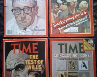 TIME MAGAZINE- Set of 4- 1979- Kissinger/Khomeini/Volckerism/Iran/Antiques & Art