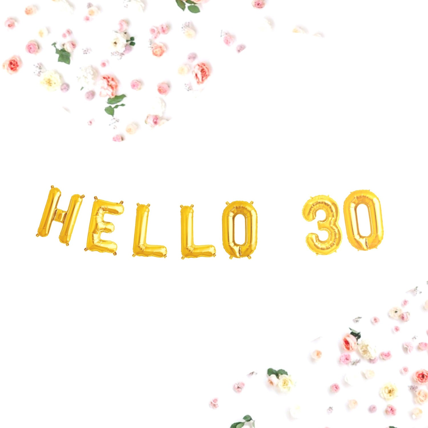 Hello 30 balloons small 13 5 30th birthday banner for 30 birthday decoration