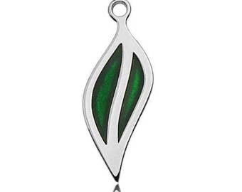 Coloured Charm Leaf Sterling Silver 925