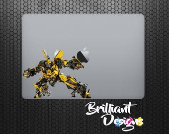 Bumble Bee ,Transformers Decal,Sticker,Skin,MacBook Pro, Macbook Air, Macbook, iPad,Gift, Geekery, Optimus Prime, Prime, for him,for her