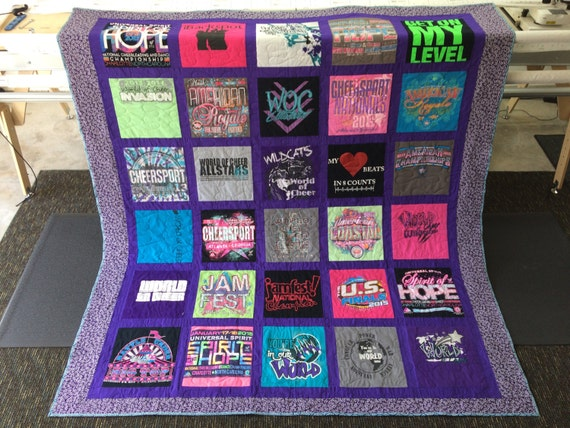 Custom T Shirt Quilt With Sashing And Bordering By