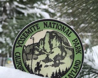 Yosemite National Park - California's All-Year Playland, Vintage Label [vinyl sticker]