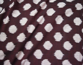 Ikat Fabric cotton fabric by the yard Upholstery Fabric, Ikat for cushion cover, Handwoven Ikat, Handloom Ikat Fabric, Homespun Ikat