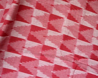 Handwoven Ikat Quilting Fabric, Indian Ikat Fabric cotton fabric by the yard Fabric for cushion cover, Handloom Ikat Fabric, Homespun Ikat