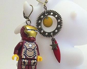 Iron man earrings