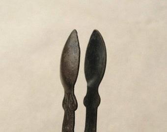 Antique Brass Tongs, Vintage Kitchen Decor, Antique Kitchen Utensil, Tiny Tongs